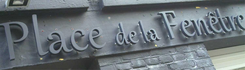 gevel reclame, buitenreclame, piepschuim letters, metalen letters